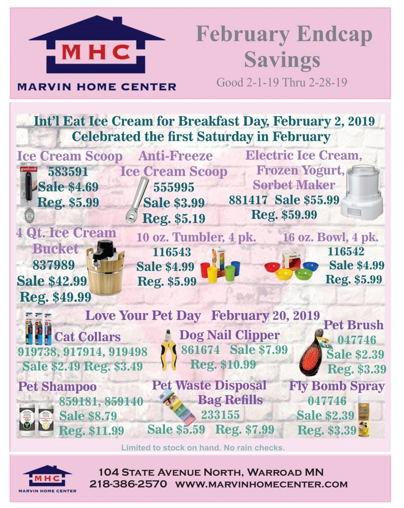 February Endcap Savings