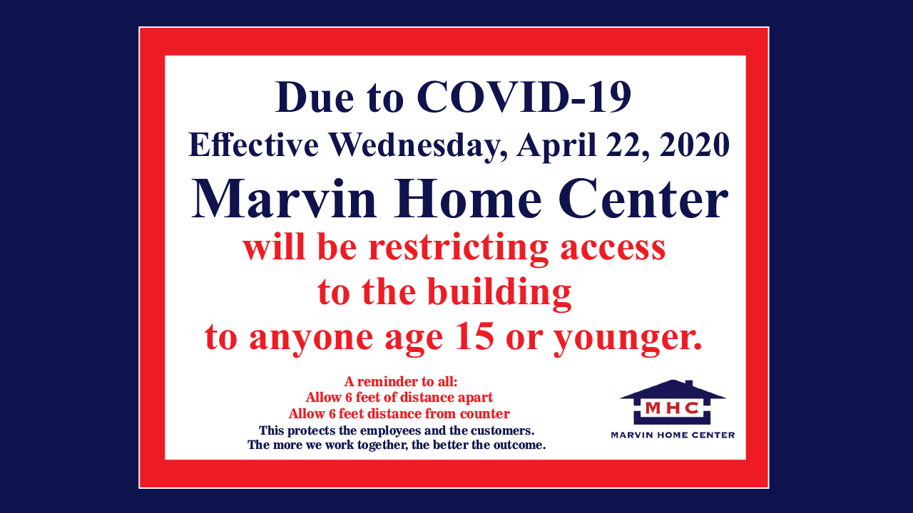Due to COVID-19, MHC will be restricting access to the building to anyone age 15 or younger
