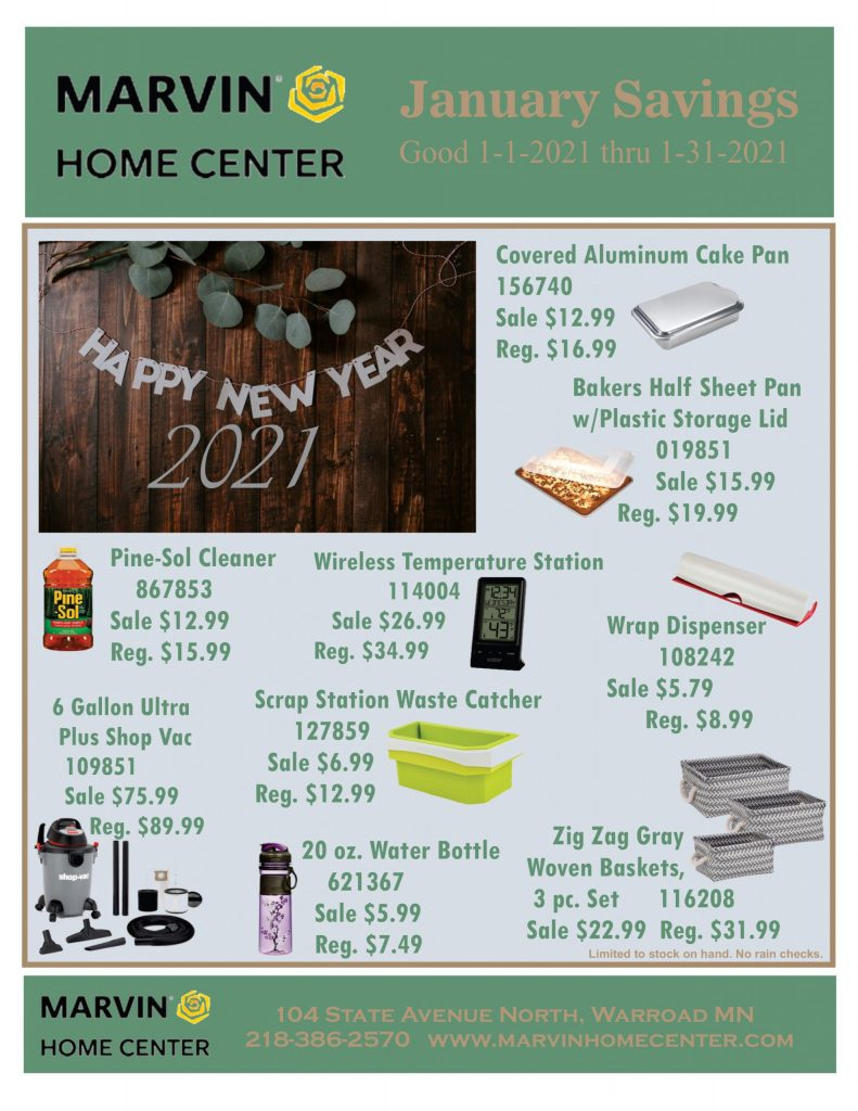 January Savings Flyer - Front